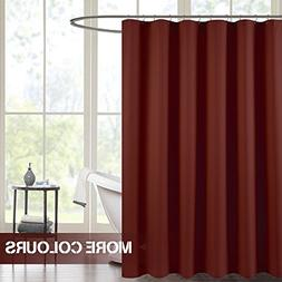Waffle Weave Fabric Shower Curtain for Bathroom Burgundy 72
