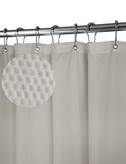 home queen Waffle Weave Mold Resistant Shower Curtain,Anti-M