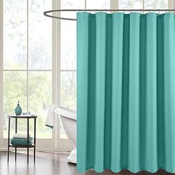 Shower Curtain for Bathroom Waterproof Waffle Weave Fabric S