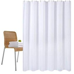 Wimaha Water-Repellent Fabric Shower Curtain Liner Mildew-Re