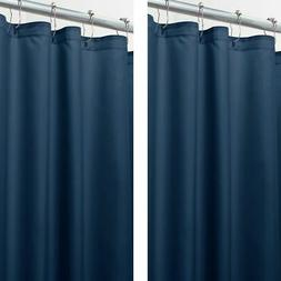 "mDesign Water Repellent Fabric Shower Curtain/Liner, 96"" Lon"