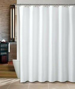 Maytex Water Repellent Fabric Shower Curtain or Liner in Whi