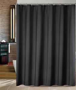 Maytex Water Repellent Fabric Shower Curtain or Liner in Bla