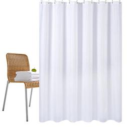 Wimaha Water-repellent Long Fabric Shower Curtain Liner Mild