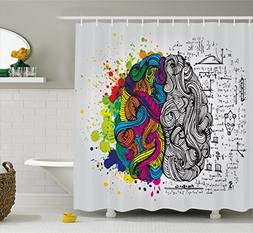 Ambesonne Watercolor Decor Shower Curtain by, Sketchy Modern