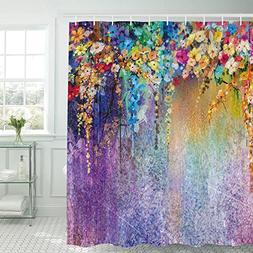 Sunm Boutique Watercolor Flower Bathroom Shower Curtain Set