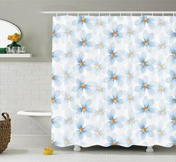 Ambesonne Watercolor Flower Shower Curtain, Pastel Floral Pa