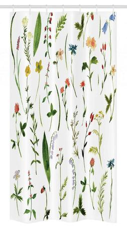 Ambesonne Watercolor Flower Stall 14556 Shower Curtain Set 5