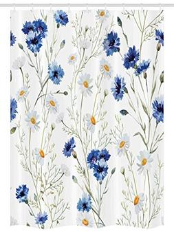 Ambesonne Watercolor Flower Stall Shower Curtain, Wildflower