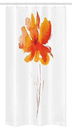 Ambesonne Watercolor Flower Stall Shower Curtain, Single Pop