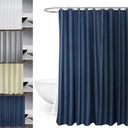 Polyester Gray Solid Shower Curtain Shower Curtain Org
