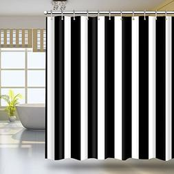 HILLPOW Waterproof Classic Black and White Stripes Theme Sho