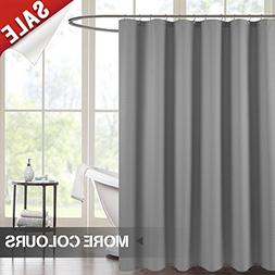 Waterproof Fabric Shower Curtain Grey 72 inch Length Waffle