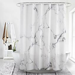 Waterproof Marble Printed Shower Curtain Polyester Bathroom