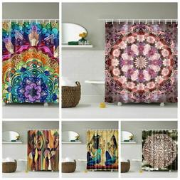 12 Hooks Bathroom Waterproof Polyester Shower Curtain Variou