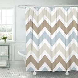 Accrocn Waterproof Shower Curtain Curtains Fabric Smoky Blue