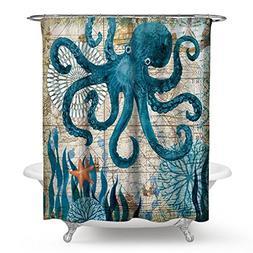 Waterproof Shower Curtain Marine Sea Turtle Decorative Polye