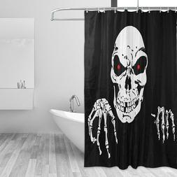 Waterproof Skull Print <font><b>Shower</b></font> <font><b>C