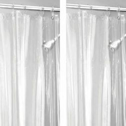 mDesign Waterproof Vinyl Shower Curtain Liner, 2 Pack - Clea