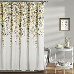 Lush Decor Weeping Flower Shower Curtain Fabric Floral Vine