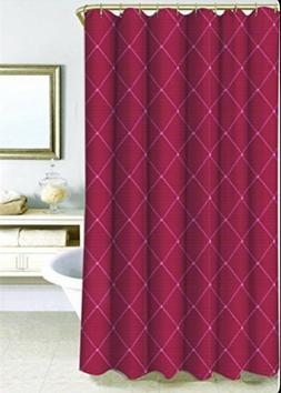 Wellington 72-Inch x 96-Inch Shower Curtain Wine Lattice Emb