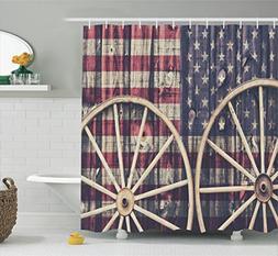 western decor shower curtain set