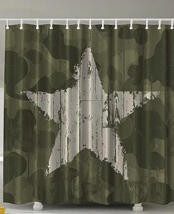 Ambesonne Western Khaki Camouflage Shower Curtain by, Southw