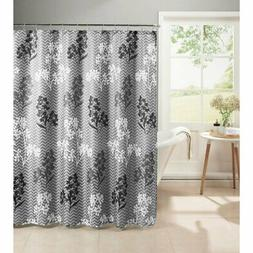 Creative Home Ideas Whimsy Leaves Textured Shower Curtain