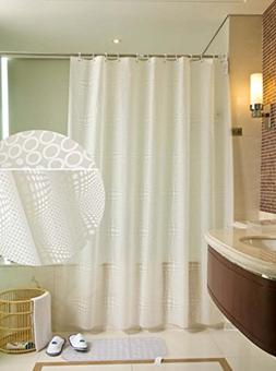 White Circle Polka Dot PEVA Shower Curtain Waterproof, 102 i