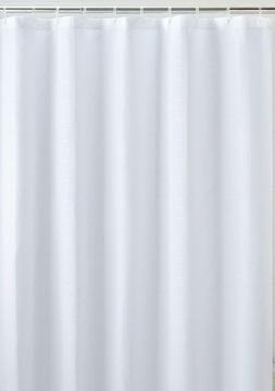 White Fabric Shower Curtain liner, Mildew Resistant and Anti