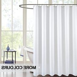 jinchan White Shower Curtain for Bathroom Water-Repellent Wa