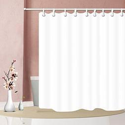 NYMB Pure White Waterproof Shower Curtain 69X70 inches Milde
