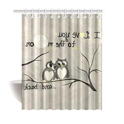"""WECE 60"""" x 72"""" Funny Owls Fall In Love I Love You To The Moo"""