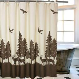 Wildlife Shower Curtain Deer Rustic Bathroom Accessories Uni