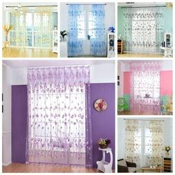 Window Curtain Home Kitchen Curtain Voile Shower Curtain Pan