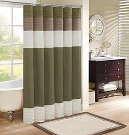 Comfort Spaces Windsor Shower Curtain – Khaki - Brown –