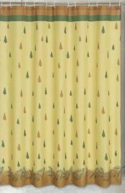 Carnation Home Fashions Winters Break Pine Tree Fabric Showe
