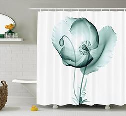 Ambesonne Xray Flower Decor Collection, Poppy Flower Blooms