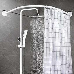 YOLOPLUS Shower Curtain Rods Curved Wall Mount Bathroom Cove