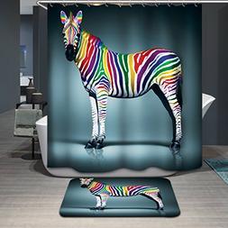 Dodou 72 X 72 Inch zebra digital printing Anti Bacterial Wat