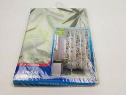 Maytex Zen Garden PEVA Shower Curtain Bamboo Leaves Odorless