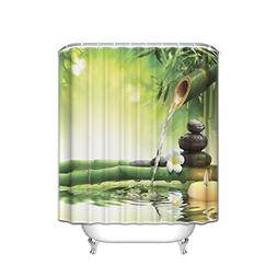 KAROLA Zen Garden Theme Shower Curtain Set Spa Decor View fo